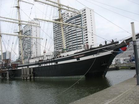 weser-radweg-segelschiff